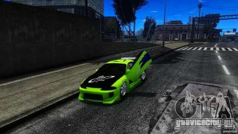 Mitsubishi Eclipse GSX FnF для GTA 4 вид сзади