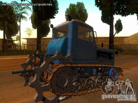 ДТ-75М Казахстан для GTA San Andreas вид сзади слева
