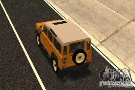 Land Rover Defender 110 для GTA San Andreas вид сзади слева