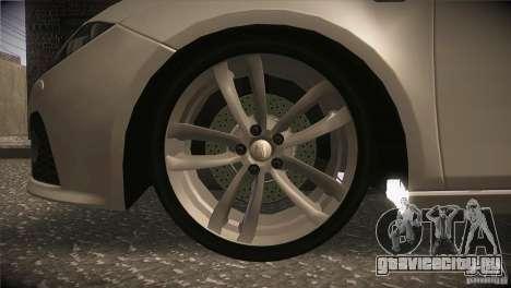 Seat Leon Cupra для GTA San Andreas вид сверху