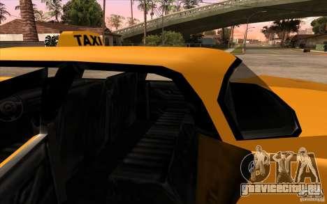 Glendale Cabbie для GTA San Andreas вид справа