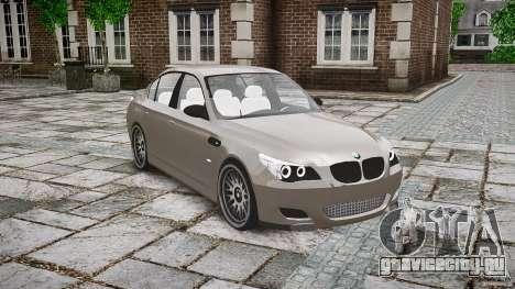 BMW E60 M5 2006 для GTA 4 вид изнутри