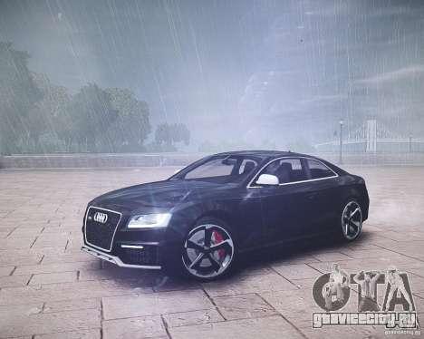 Audi RS5 2010 для GTA 4 вид сзади слева