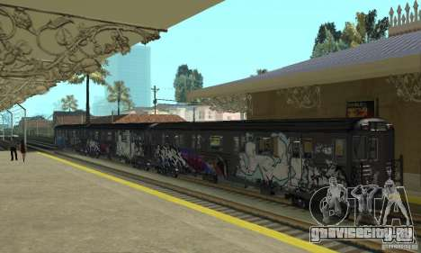 GTA IV Enterable Train для GTA San Andreas