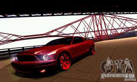 Shelby GT500 KR для GTA San Andreas вид сзади
