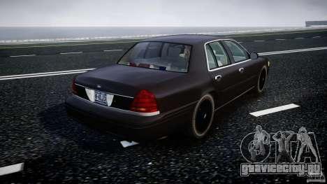 Ford Crown Victoria 2003 v2 FBI для GTA 4 вид сбоку