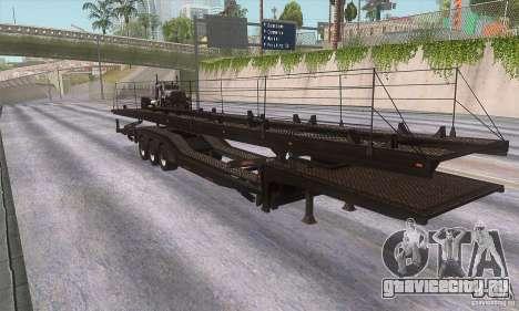 Прицеп-автовоз для GTA San Andreas вид слева