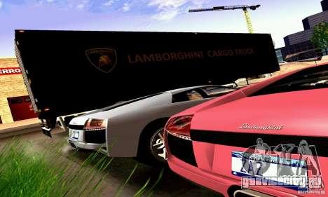 Lamborghini Cargo Truck для GTA San Andreas вид сзади