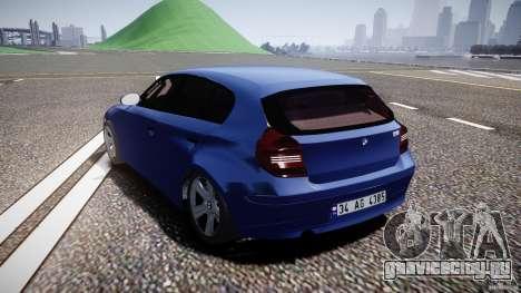 BMW 118i для GTA 4 вид сзади слева