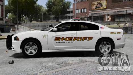 Dodge Charger 2013 Police Code 3 RX2700 v1.1 ELS для GTA 4 вид слева