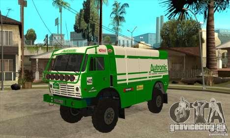 КамАЗ 4911 Rally МАСТЕР для GTA San Andreas вид сзади слева