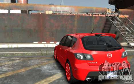 Mazda 3 для GTA 4 вид сзади слева