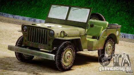 Jeep Willys [Final] для GTA 4 вид изнутри