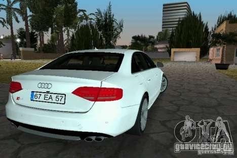 Audi S4 2010 для GTA Vice City вид слева