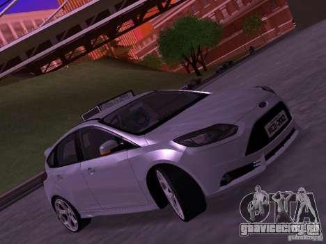 Ford Focus ST 2013 для GTA San Andreas вид сзади слева
