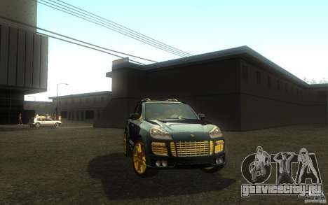 Porsche Cayenne gold для GTA San Andreas вид справа