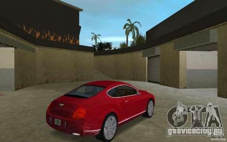 Bentley Continental GT (Final) для GTA Vice City вид справа