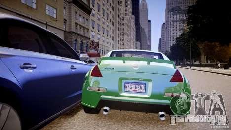 Nissan 350Z Underground 2 Style для GTA 4 вид справа