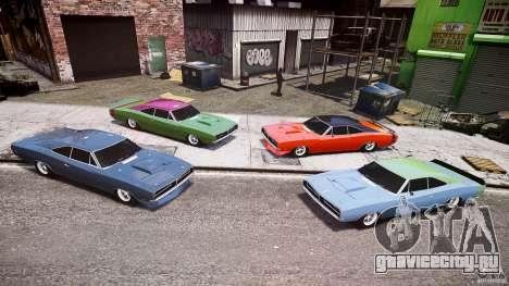 Dodge Charger RT 1969 tun v1.1 лоу райд для GTA 4 вид снизу