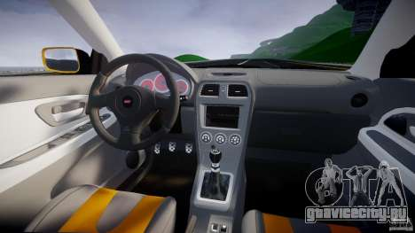 Subaru Impreza STI для GTA 4 вид сверху