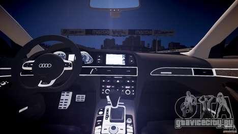 Audi RS6 2009 для GTA 4 вид изнутри