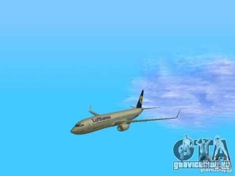 Boeing 737-800 Lufthansa для GTA San Andreas вид изнутри