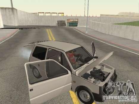 ВАЗ 1111 Ока Белка для GTA San Andreas вид сверху