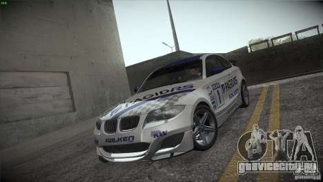 BMW 135i Coupe Road Edition для GTA San Andreas вид сбоку