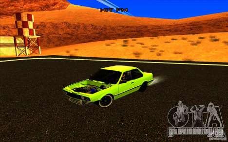 BMW E30 2.7T для GTA San Andreas вид сзади слева