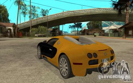 Bugatti Veyron v1.0 для GTA San Andreas вид сзади слева