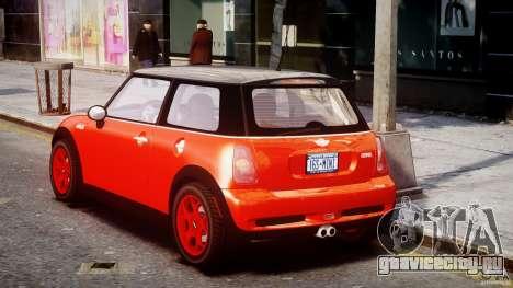 Mini Cooper S 2003 v1.2 для GTA 4 вид сзади слева