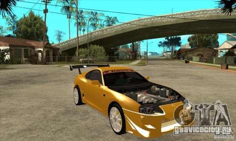 Toyota Supra D1GP для GTA San Andreas вид сзади