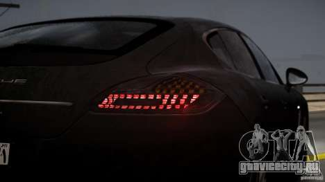 Porsche Panamera Turbo 2010 Black Edition для GTA 4 вид сверху