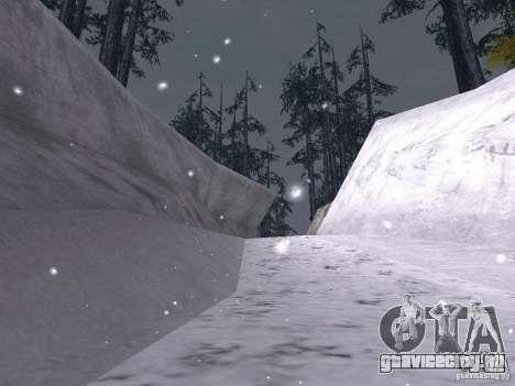 Снег для GTA San Andreas одинадцатый скриншот
