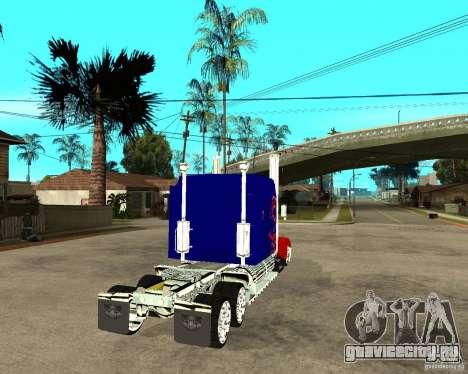 Truck Optimus Prime для GTA San Andreas вид сзади слева