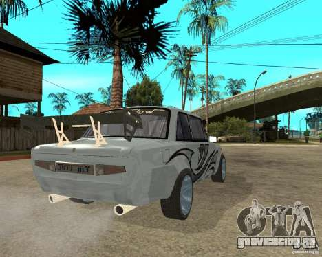 ВАЗ 2101 Тюнинг для GTA San Andreas вид сзади слева