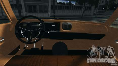 Dodge Monaco 1974 Taxi v1.0 для GTA 4 вид сзади