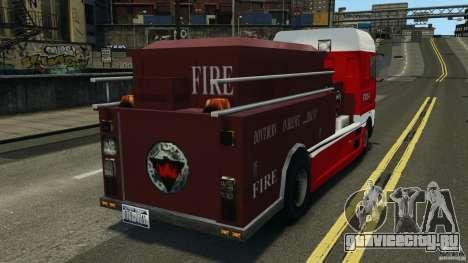DAF XF Firetruck для GTA 4 вид сзади слева
