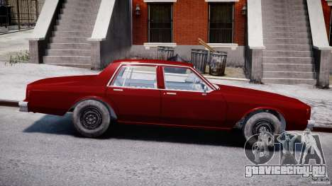 Chevrolet Impala 1983 v2.0 для GTA 4 вид изнутри