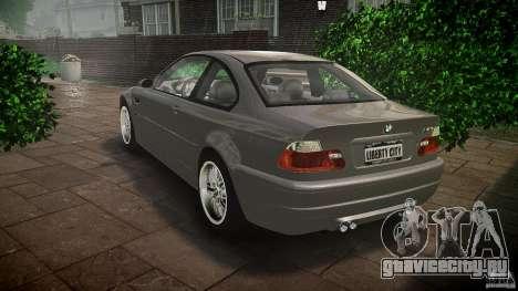 BMW M3 e46 v1.1 для GTA 4 вид сзади слева