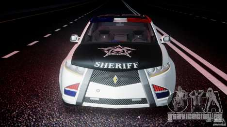 Carbon Motors E7 Concept Interceptor Sherif ELS для GTA 4 салон