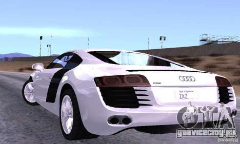 Audi R8 4.2 FSI для GTA San Andreas вид сзади слева