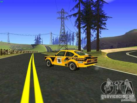Opel Kadett для GTA San Andreas вид изнутри