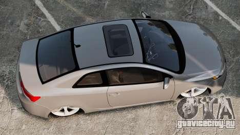 Kia Cerato Koup Edit для GTA 4 вид справа