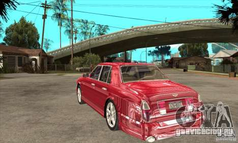 Bentley Arnage T для GTA San Andreas вид справа
