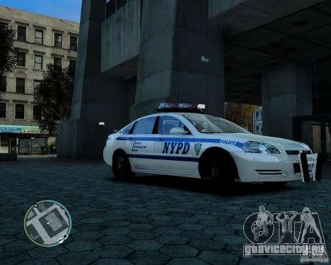 NYPD Chevrolet Impala 2006 [ELS] для GTA 4 вид слева