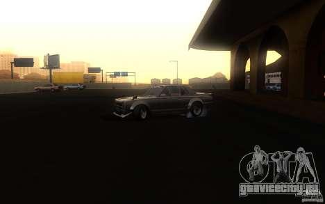 Nissan 2000GTR V2 для GTA San Andreas вид сзади