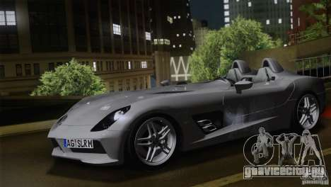 Mercedes-Benz SLR Stirling Moss 2005 для GTA San Andreas вид слева
