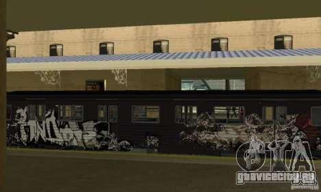 GTA IV Enterable Train для GTA San Andreas вид изнутри