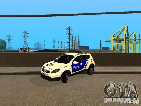 Nissan Qashqai Espaqna Police для GTA San Andreas вид слева